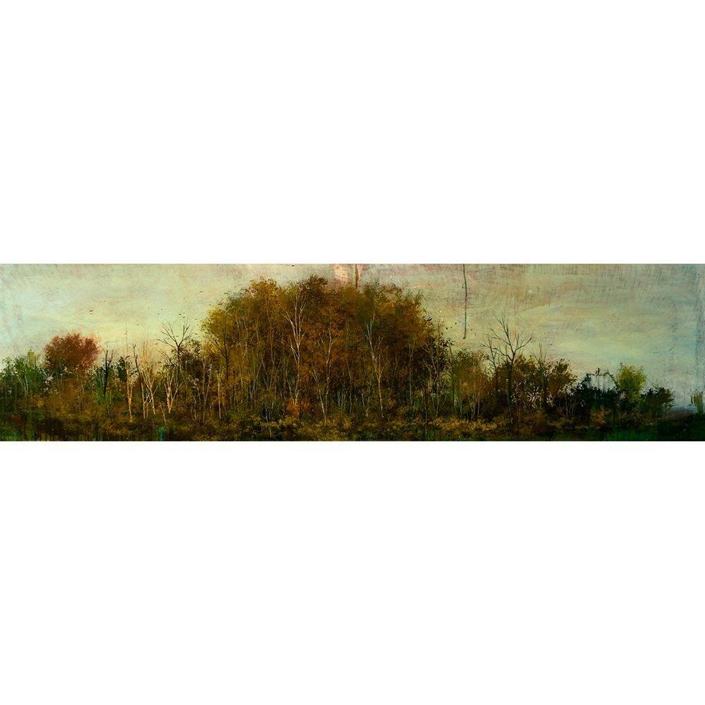 """Peter Hoffer, """"Grain"""", 2010, 24 x 96 - Newzones Gallery, Calgary"""