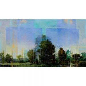 "Peter Hoffer, ""Ombre"", 2016, 40 x 72 - Newzones Gallery, Calgary"