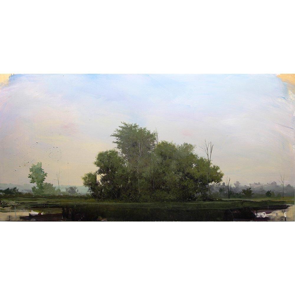 """Peter Hoffer, """"Pastorale"""", 2013, 36 x 72 - Newzones Gallery, Calgary"""