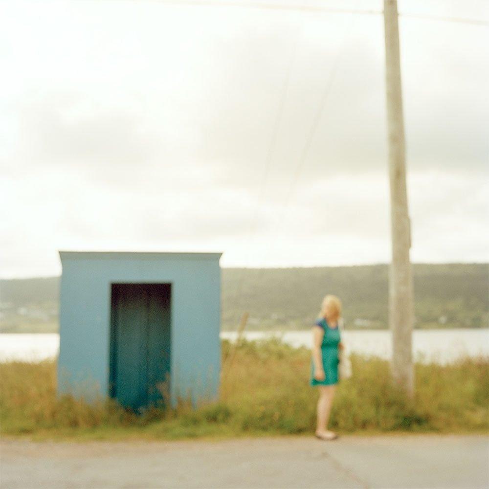 "Virginia Mak, ""Untitled 05 Woman Beside Bus Shelter"", 2015, CPrint - Newzones Gallery, Calgary"