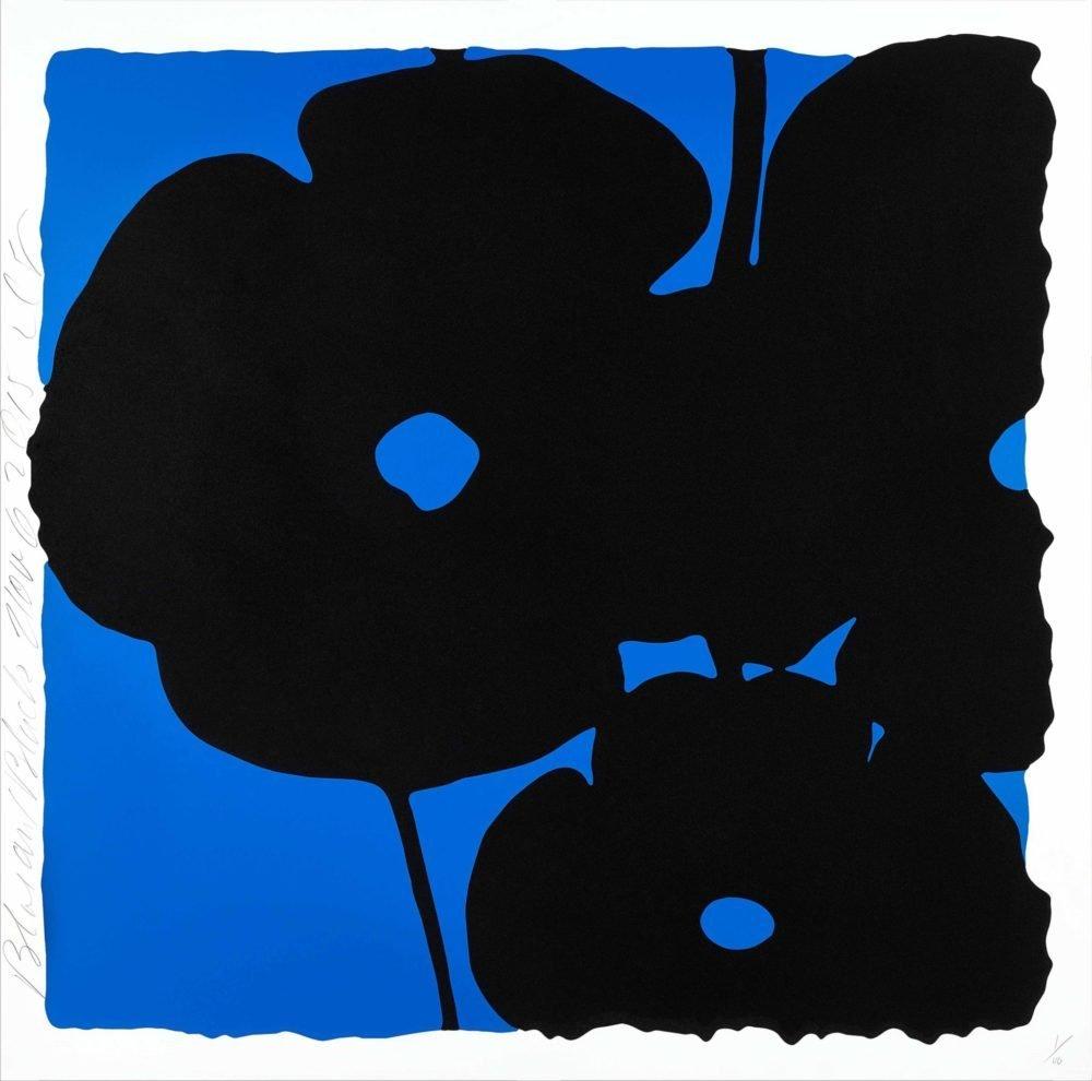 Donald Sultan, Blue and Black, Noc 6 2015, 46x46