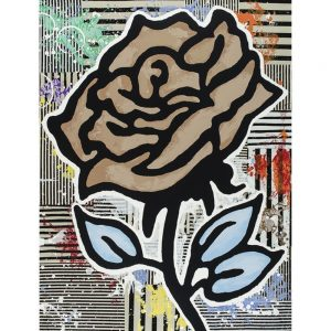 "Donald Baechler, ""Brown Rose"", 2015, 40 x 31 inches - Newzones Gallery, Calgary"