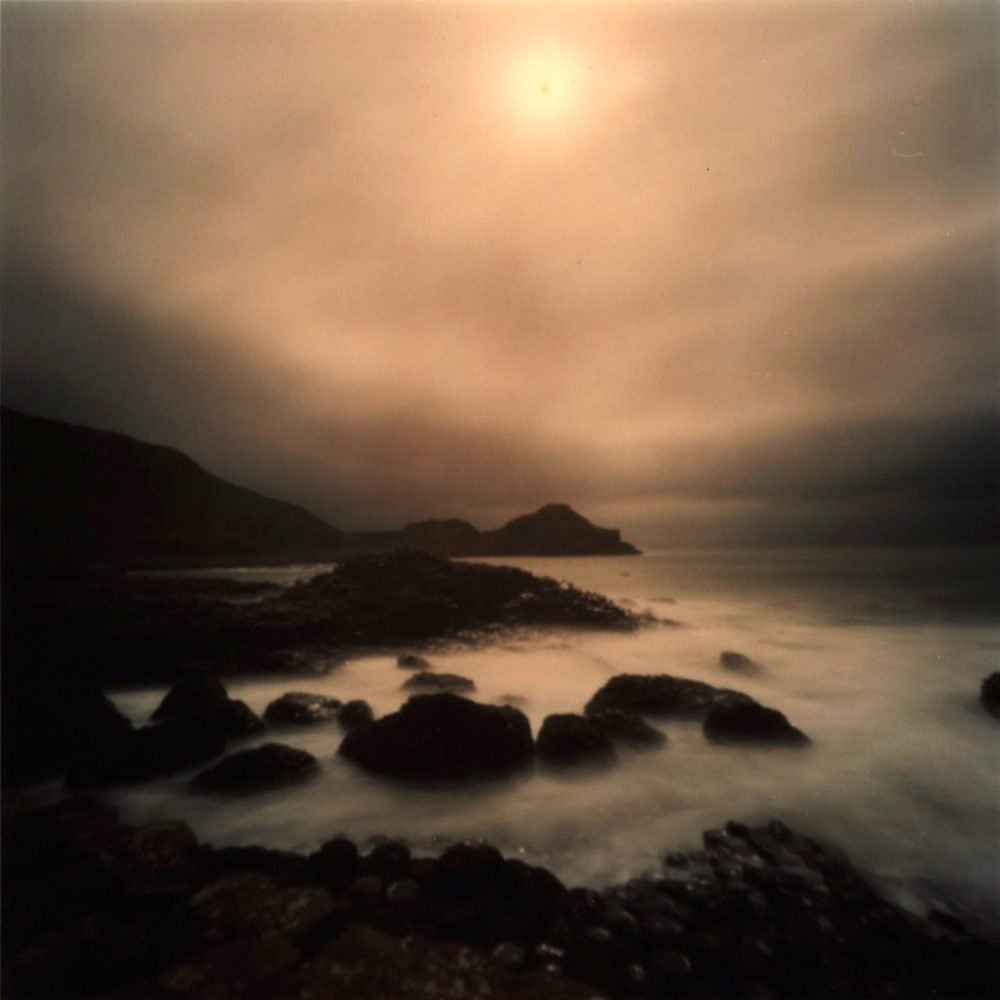 """Dianne Bos, """"Giants Causeway with Sun, Ireland"""", 2011, CPrint - Newzones Gallery, Calgary"""