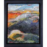 "Chaki, ""Blue Sky 1117-W"", 2011, Oil on Wood, 9.5 x 7.5 in. - Newzones Gallery, Calgary"