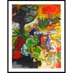 """Chaki, """"Spring Landscape 8382-A"""", 1992, Acrylic on Paper, 44 x 34 in. - Newzones Gallery, Calgary"""