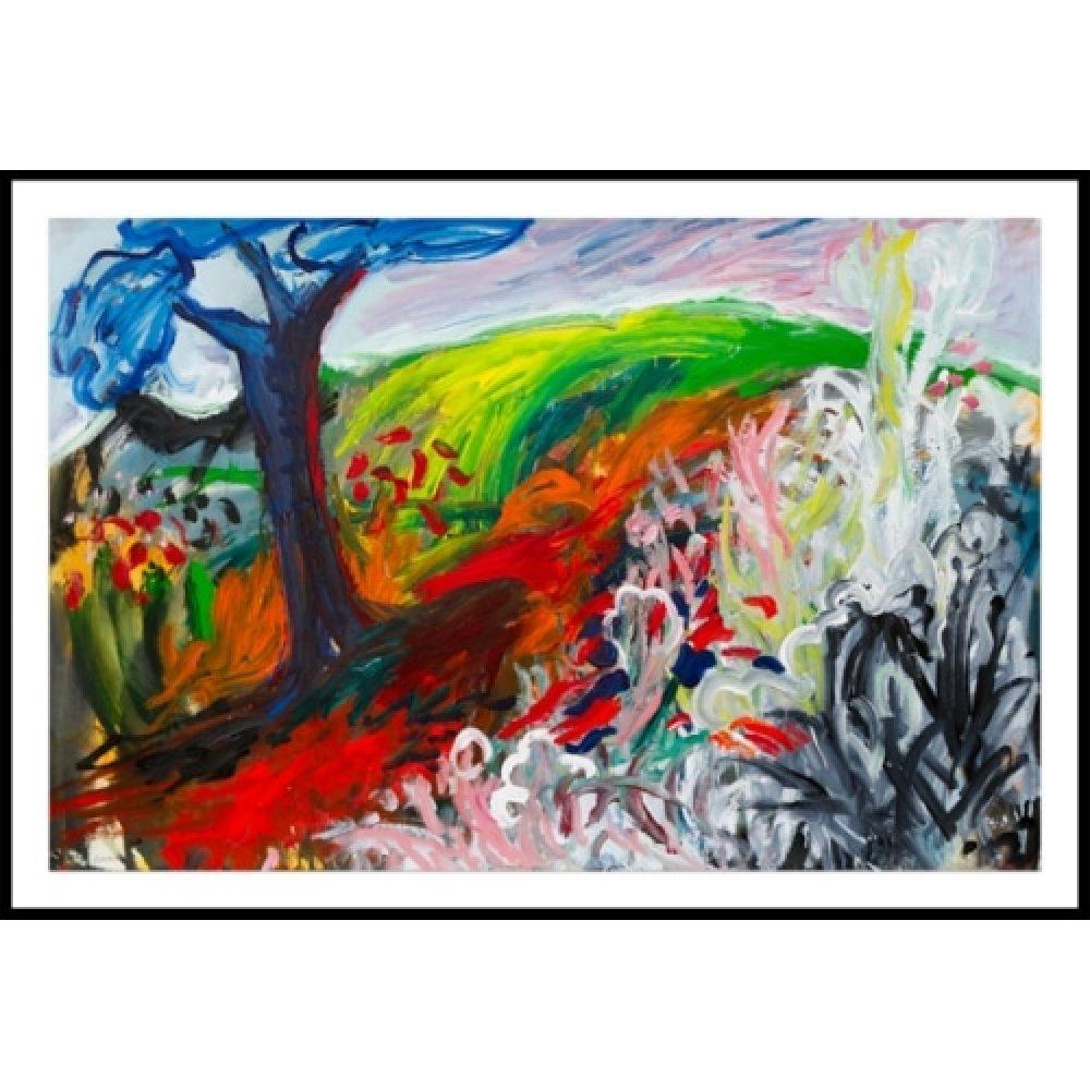 "Chaki, ""Summer Suite 9312-A"", 1993, 31.5 x 48 in. - Newzones Gallery, Calgary"