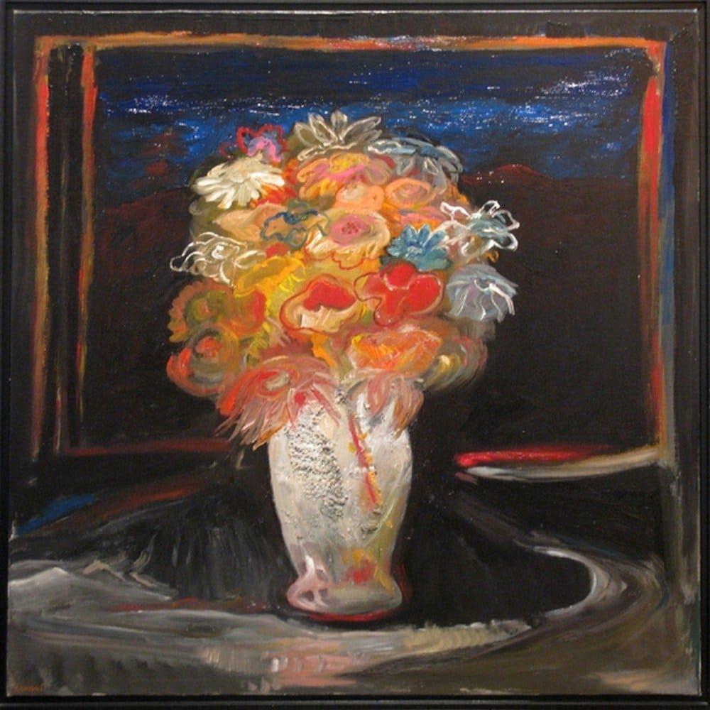 "Chaki, ""Window 0104"", 2001, Oil on Linen, 40 x 40 in. - Newzones Gallery, Calgary"