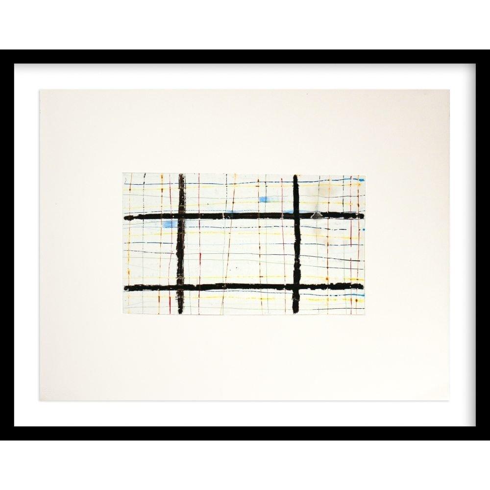 "Don Maynard, ""Black Grid"", 2011, 20 x 26 inches - Newzones Gallery, Calgary"