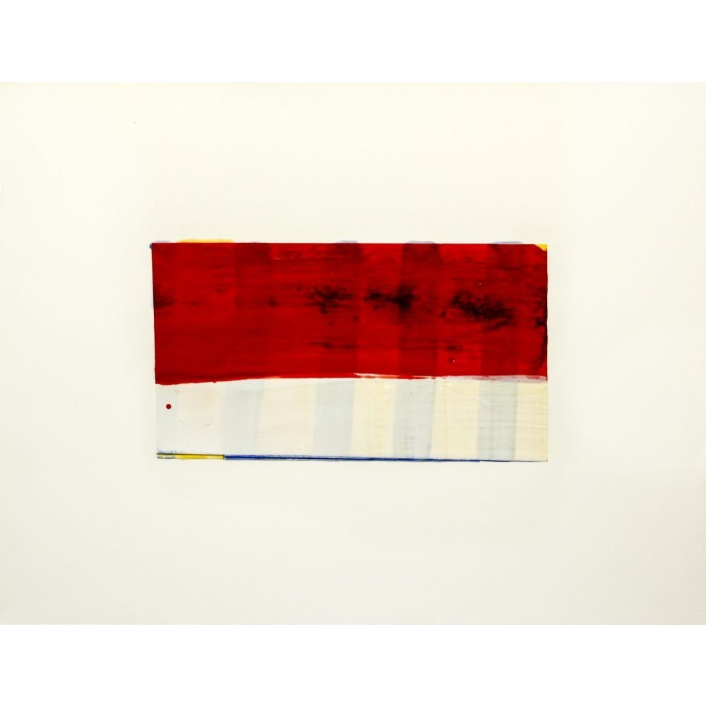 """Don Maynard, """"Red White and Blue"""", 2009, 20 x 26 inches - Newzones Gallery, Calgary"""