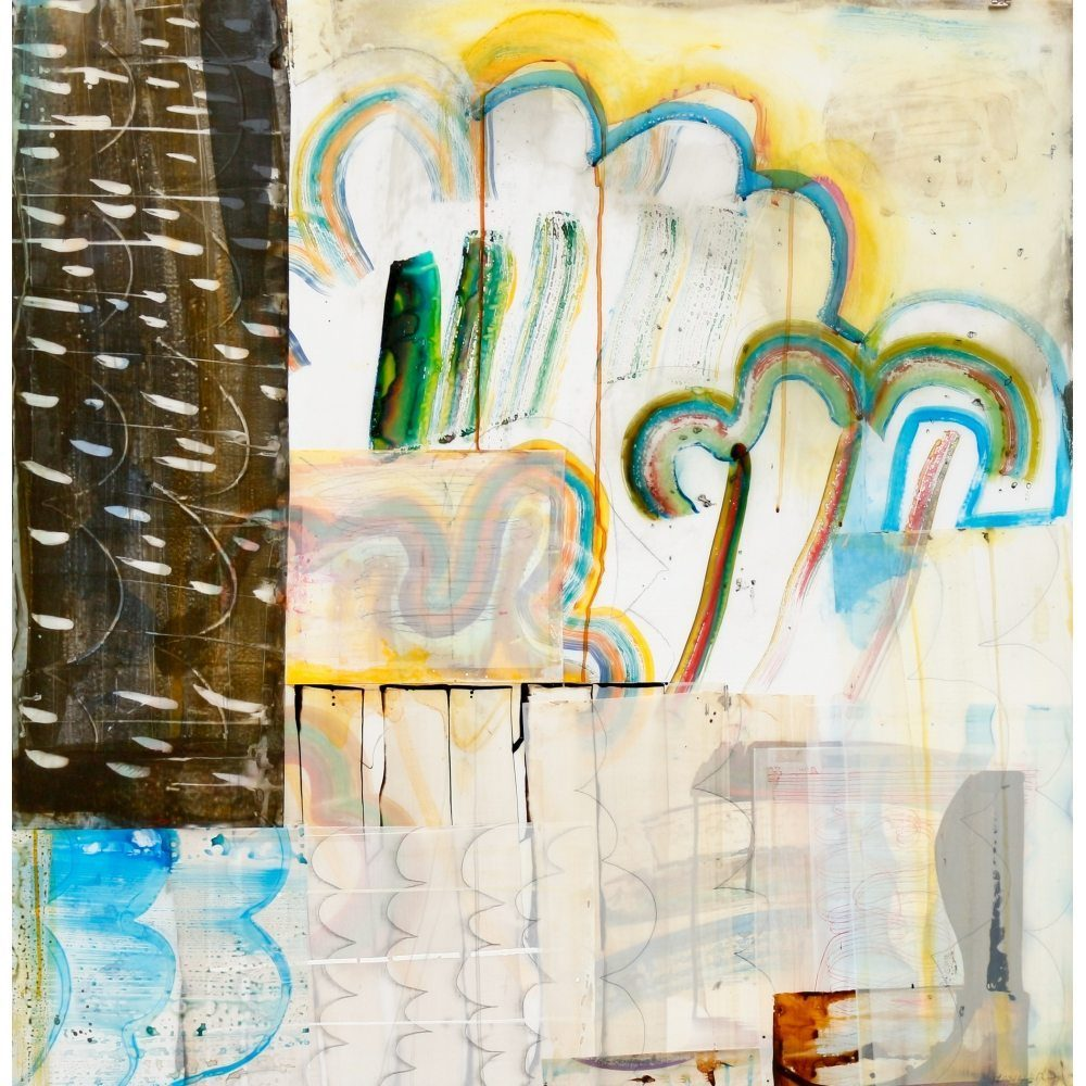 """Don Maynard, """"Weather Patterms 2"""", 2017, 43 x 42 inches - Newzones Gallery, Calgary"""