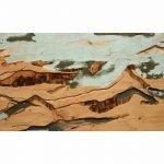 "Yechel Gagnon, ""Riviere Sans Nom III"", 2017, custom carved plywood, 24 x 40 inches - Newzones Gallery, Calgary"