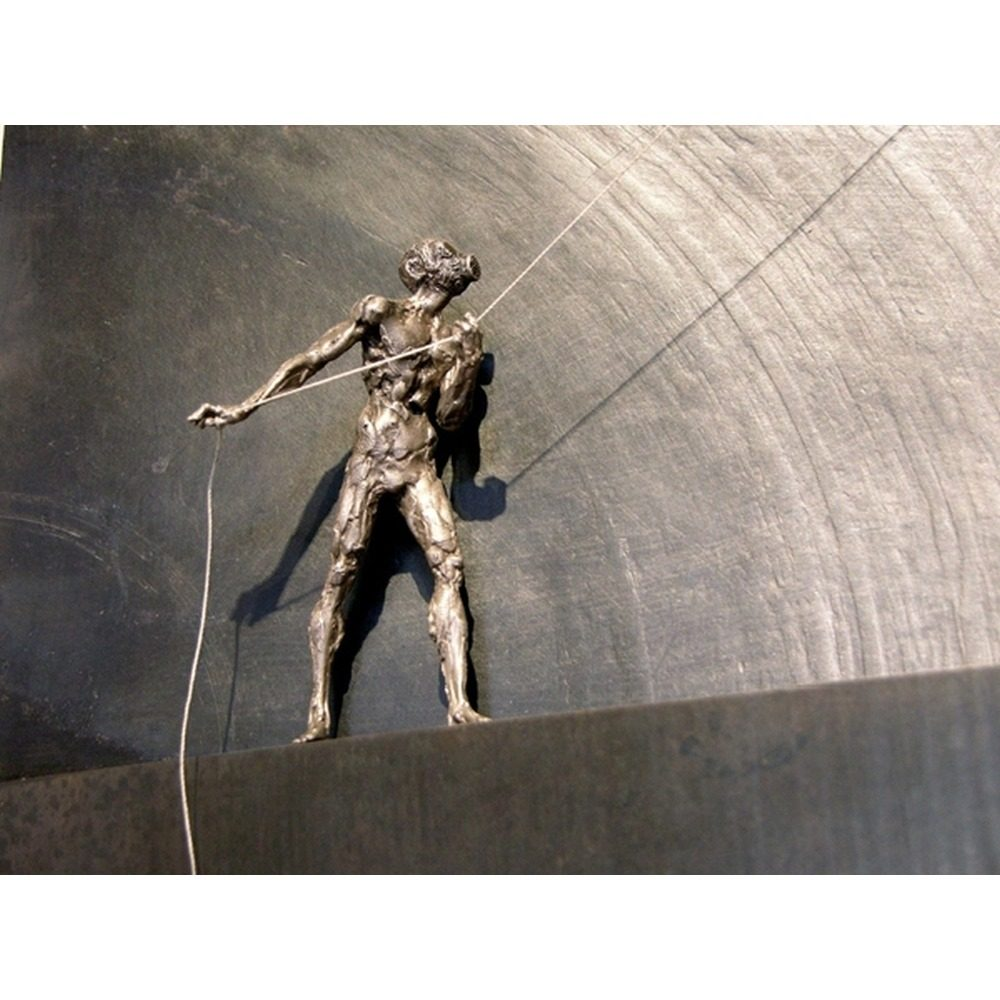 """David Robinson, """"Geist"""", 2010, Silver and Steel, 47 x 23 inches at Newzones, Calgary, Canada"""