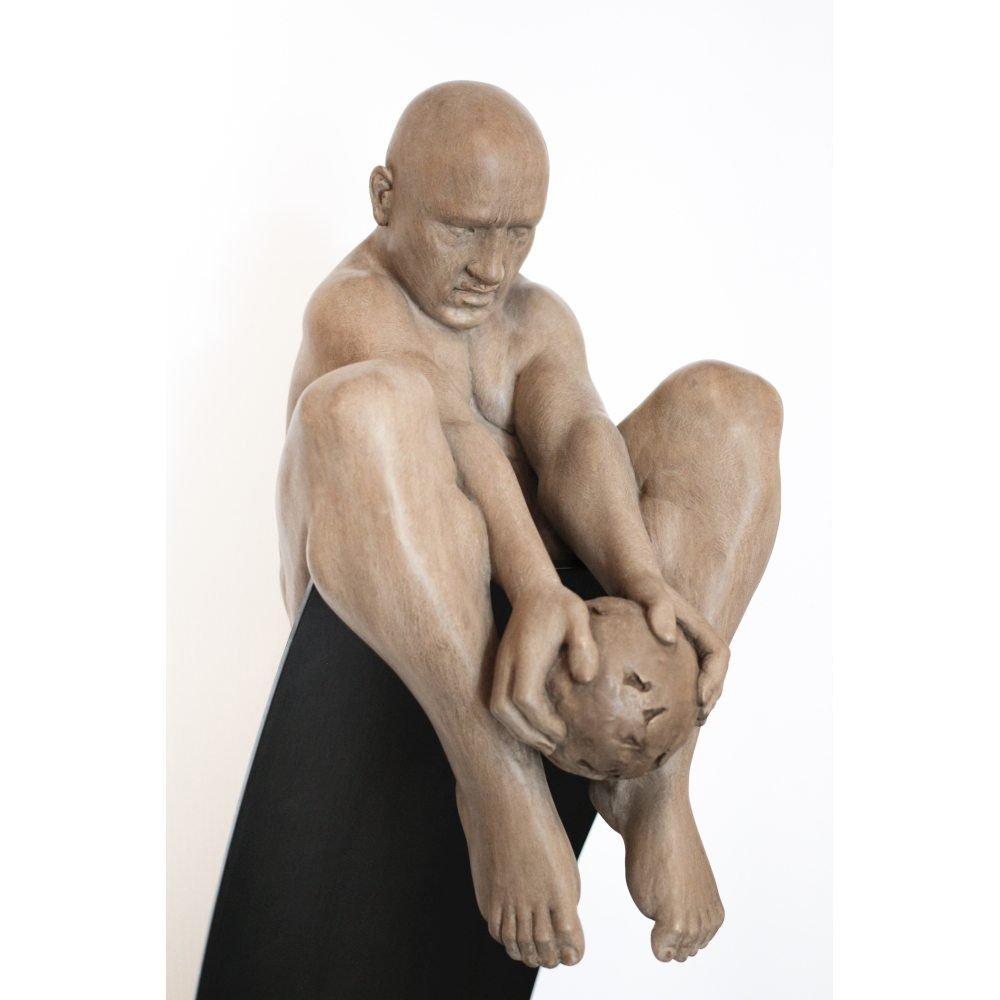 "David Robinson, ""Onus"" (detail), 2017, Polymer Gypsum and Steel, 66 x 16.5 x 19 in. - Newzones Gallery, Calgary"