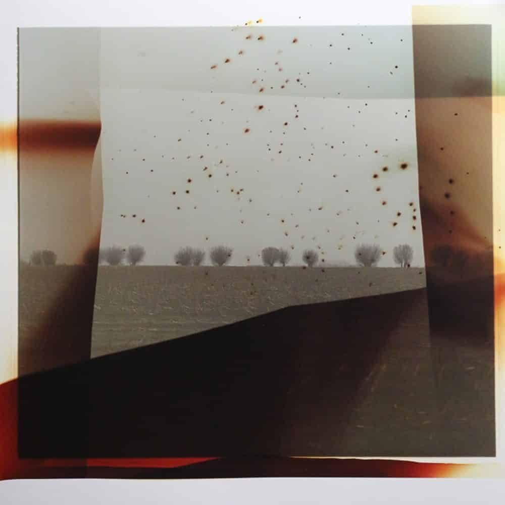 """Dianne Bos, """"Flanders Landscape Front Line with Red Blast"""", 2014, CPrint - Newzones Gallery, Calgary"""