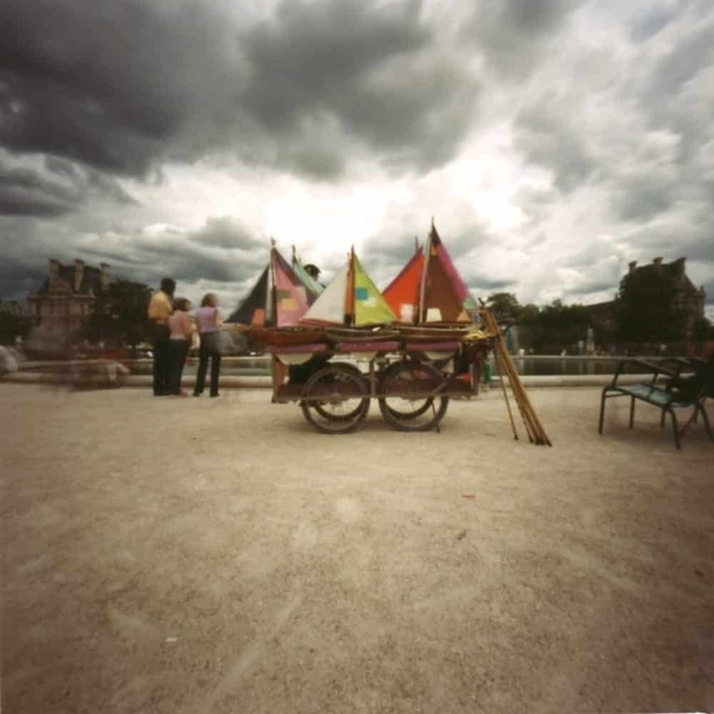 """Dianne Bos, """"Tuileries Sail Boats, France"""" 2001, CPrint - Newzones Gallery, Calgary"""