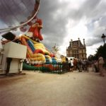 """Dianne Bos, """"Tuileries with Giant Rooster, Louvre"""", 2001 - Newzones Gallery, Calgary"""