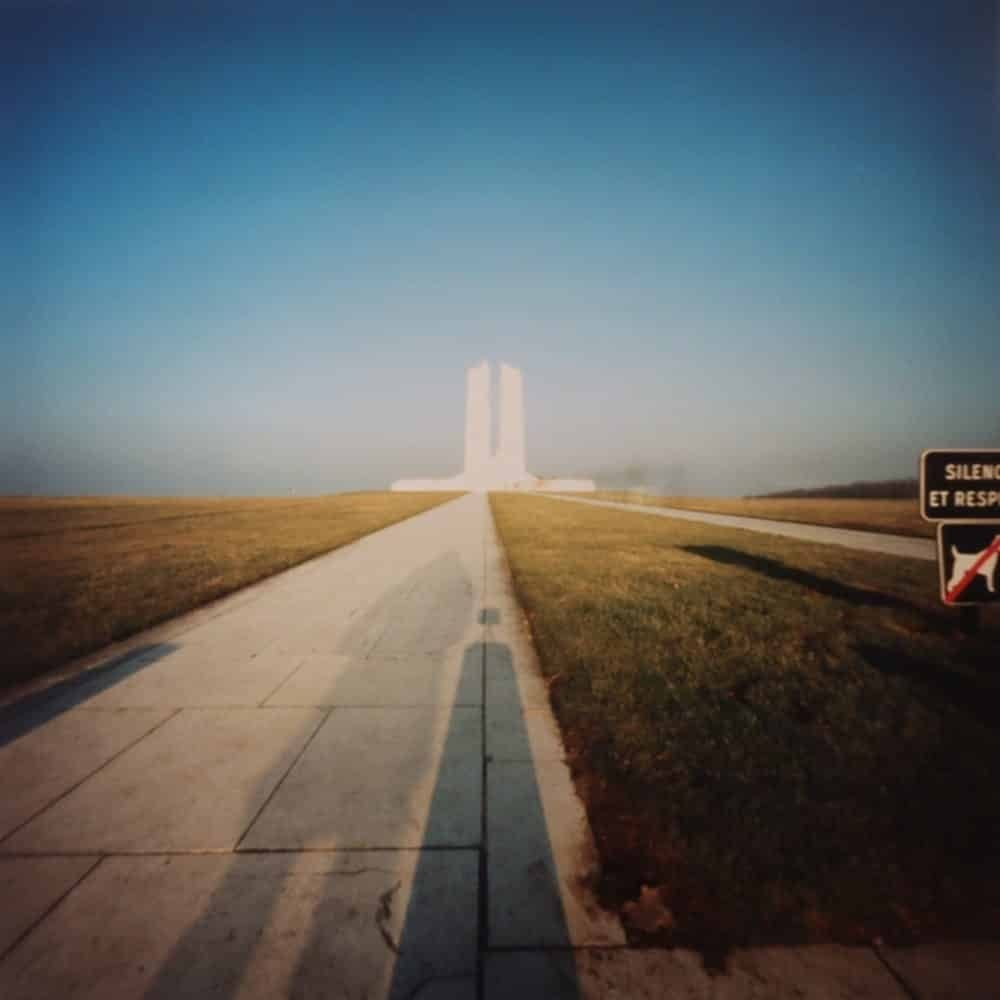 "Dianne Bos, ""Vimy Ridge Memorial Shadow, France"", 2003 - Newzones Gallery, Calgary"