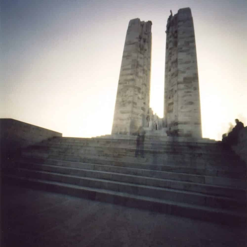 "Dianne Bos, ""Vimy Ridge Monument, France"", 2003 - Newzones Gallery, Calgary"