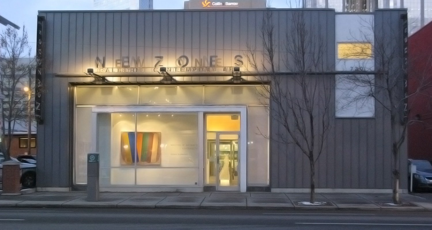 Newzones Gallery, Calgary Canada. View of Newzones' exterior on 11 ave sw. Calgary art gallery