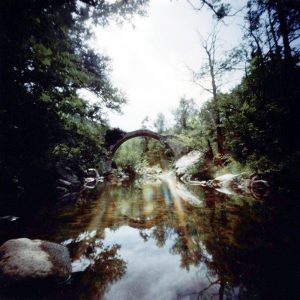 Dianne Bos, Arched Bridge Corbieres, 2011, 30x30