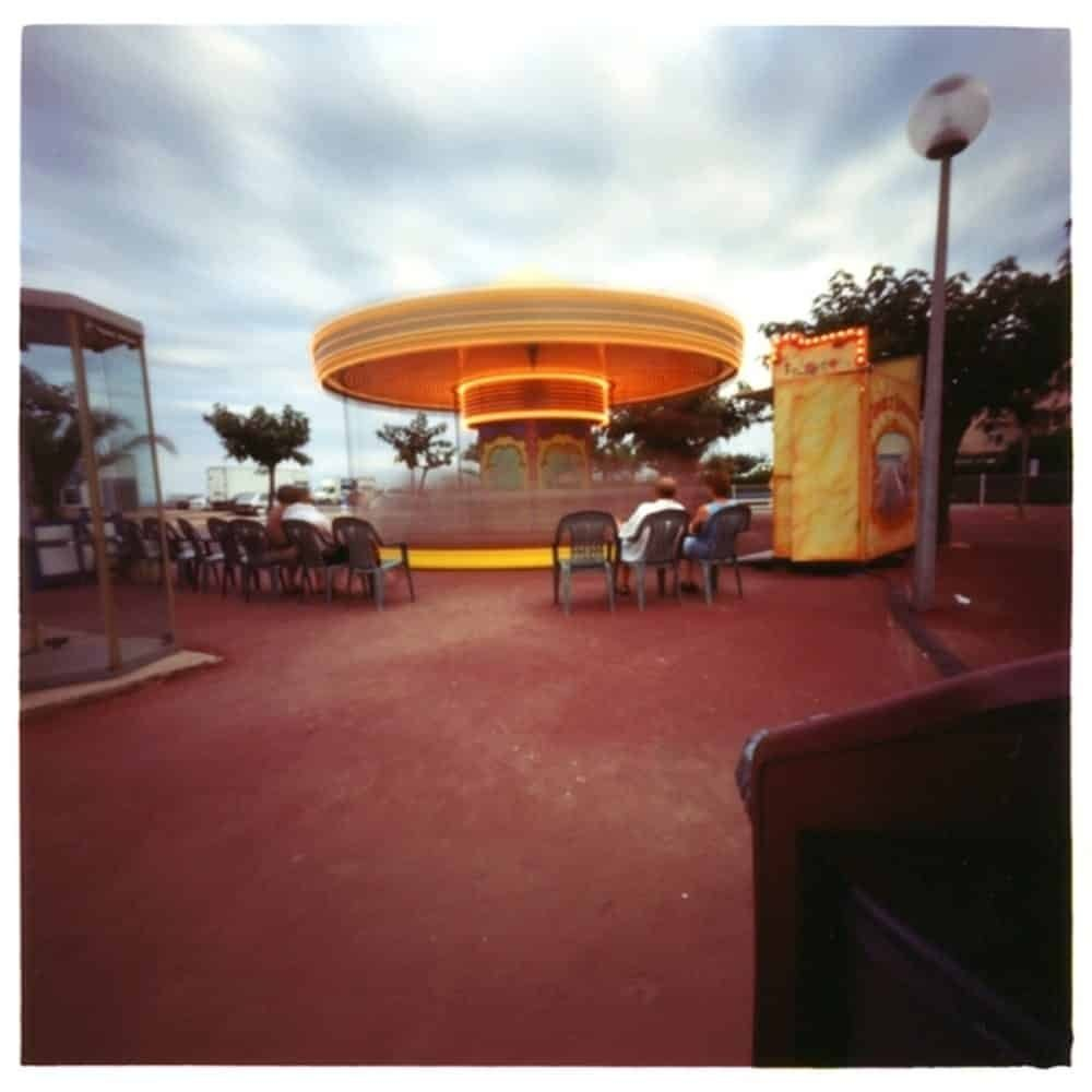 """Dianne Bos, """"Narbonne Carousel with Audience"""", 2001 - Newzones Gallery, Calgary"""