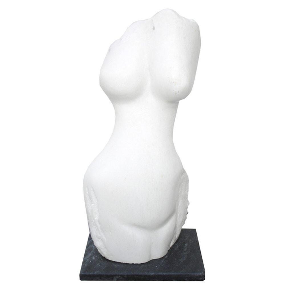 "Evelyne Brader-Frank, ""Leuce"", 2006, 17 x 8 x 5.5, White Marble - Newzones Gallery, Calgary"