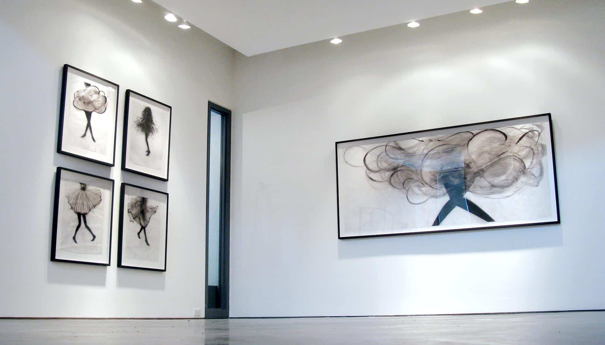 Installation of Cathy Daley, solo exhibition at Newzones Gallery, 2013