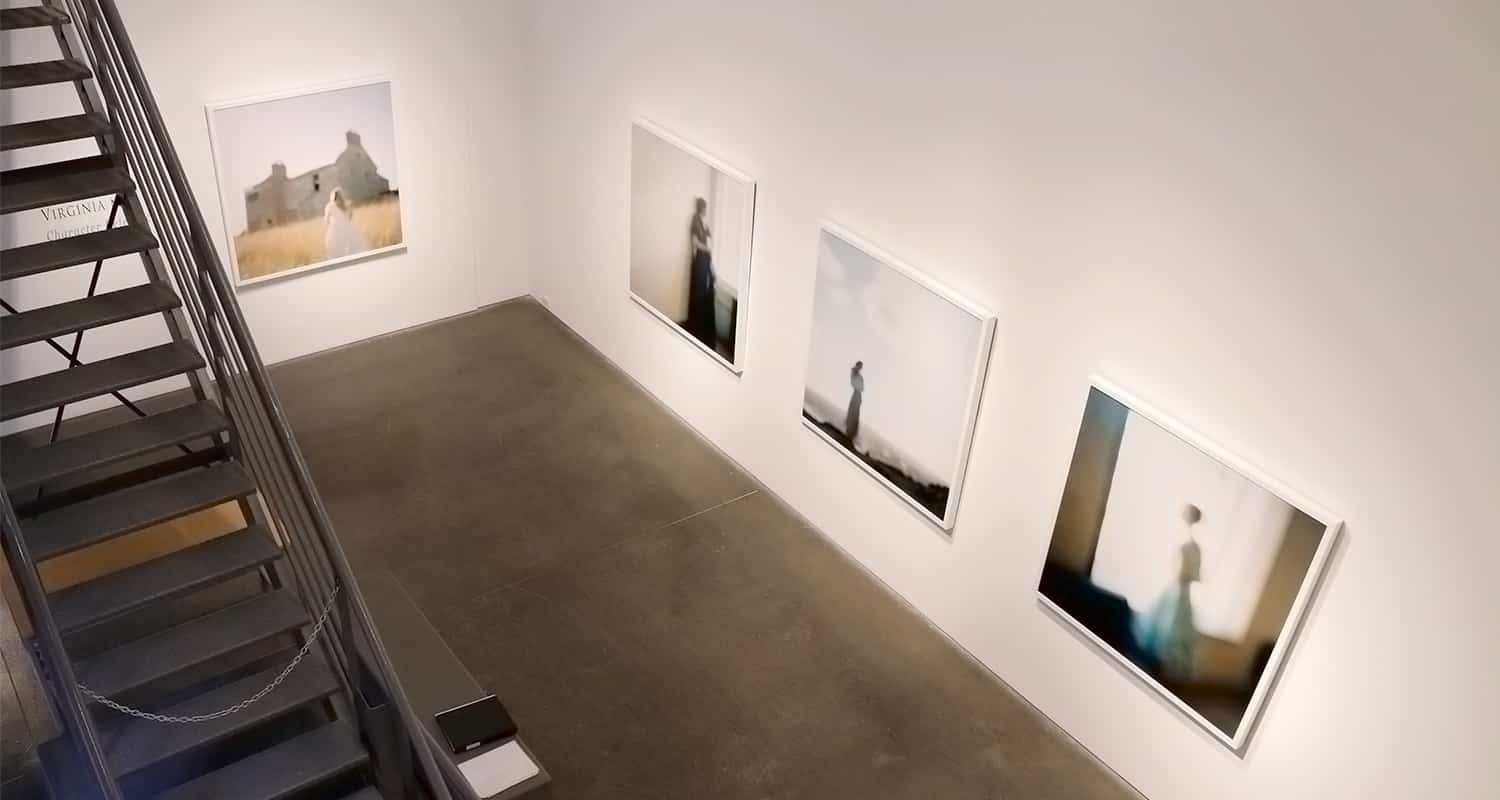 Newzones Gallery in Calgary, Canada - Installation of Canadian photographer, Virginia Mak