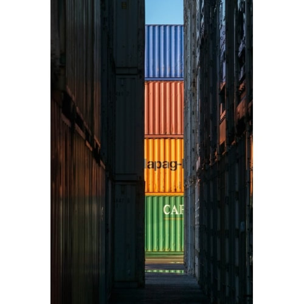 "Stuart McCall, ""Colourblock Dock"" 2015 - Newzones Gall"