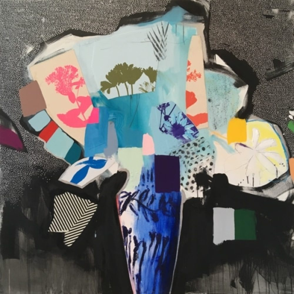 """Emily Filler, """"Ming Vase"""", 2018, Mixed Media on Canvas, 48 x 48 in. - Newzones Gallery, Calgary"""