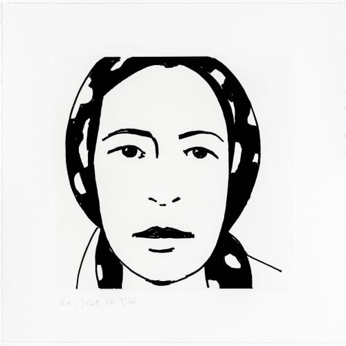 "Alex Katz, ""Ada Portfolio"", 2017, 13 x 13 inches - Newzones Gallery, Calgary"