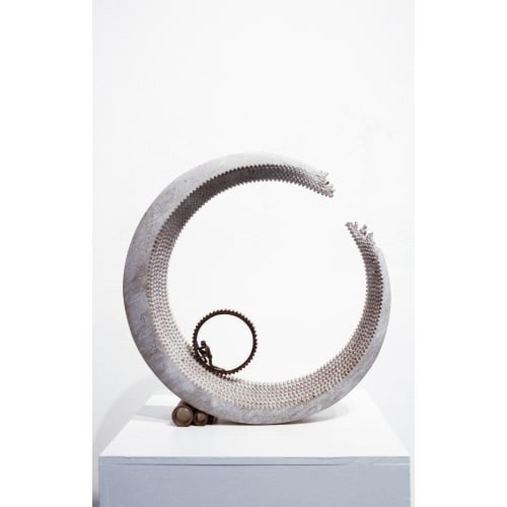 """David Robinson """"Sisyphus"""", 19.5 x 19 x 4 inches"""