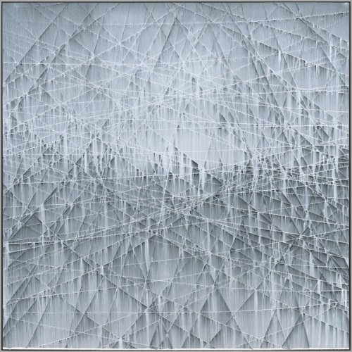 "Michael Batty, ""LIMIT #5"", 2017, Acrylic on Panel, 59 x 59 in. - Newzones Gallery, Calgary"