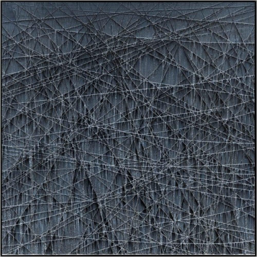"Michael Batty, ""LIMIT #6"", 2017, Acrylic on Panel, 59 x 59 in. - Newzones Gallery, Calgary"