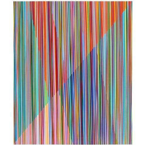 "Bradley Harms, ""Hyper Positive Simple Set"", 2018, Acrylic on Canvas on Panel, 24 x 20 in. - Newzones Gallery, Calgary"