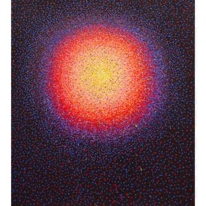 "Geoffrey Hunter, ""Fire Globe"", 2018, 54 x 48"