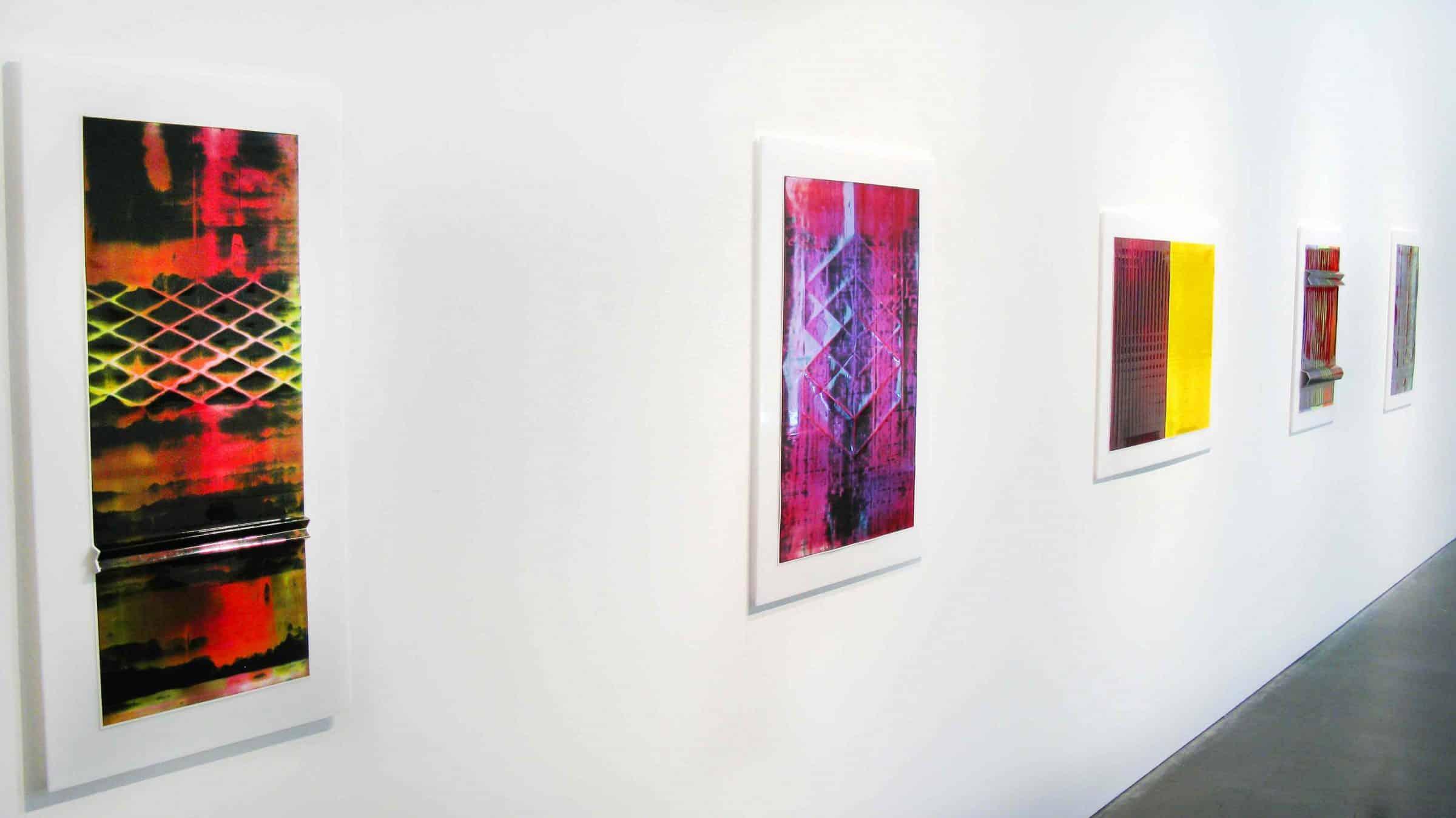 Installation of Marie Lannoo exhibition, 2013, at Newzones Gallery, Calgary