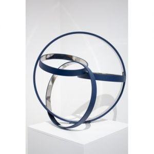 "Philippe Pallafray, ""B 0"", 2018, stainless steel, 23.5 x 23.5 x 17 inches at Newzones Gallery, Calgary Canada"