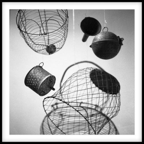 """Dianne Bos, """"Duchamp's Kitchen 303"""", 2018, Silver Gelatin Print, 40 x 40 inches at Newzones"""