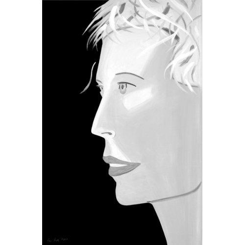 """Alex Katz """"Coca Cola Girl (Black & White), 2019, 47x31"""