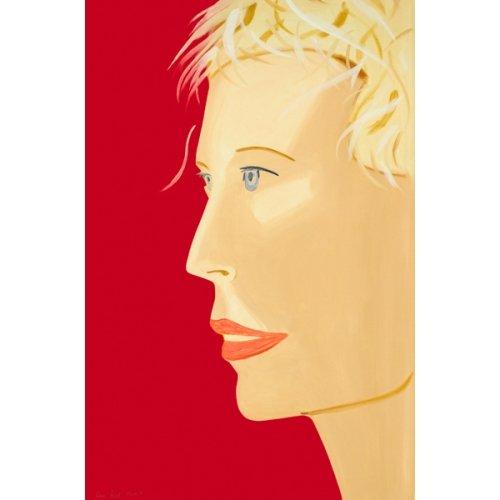"""Alex Katz """"Coca Cola Girl (Red), 2019, 47x31 inches"""