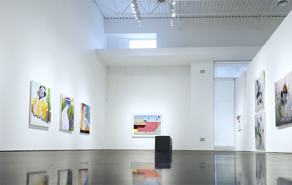 FreshFaces 2019 Installation, at Newzones Gallery, Calgary Canada - Erin Armstrong, George Byrne, Janna Watson