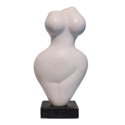 "Evelyne Brader-Frank, ""Seraphina"", 2018, White Marble at Newzones Gallery, Calgary Canada"