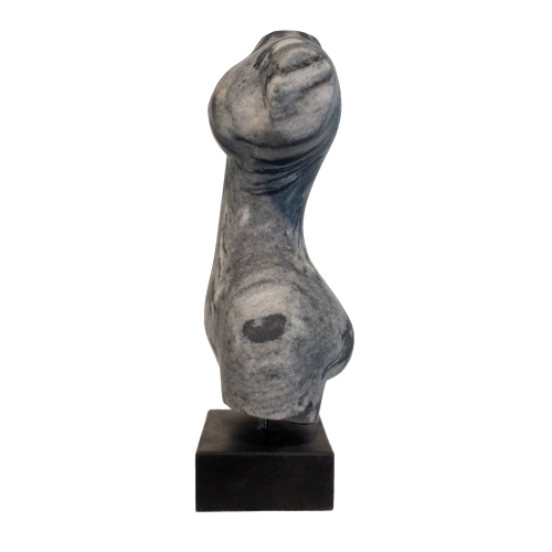 """Evelyne Brader-Frank, """"Urania the Muse of Astronomy and Astrology"""", 2018, black and white marble at Newzones Gallery, Calgary Canada"""