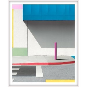 """George Byrne, """"Blue Awning with Pink"""", 2017, 56x45 inches, ed/5-framed"""