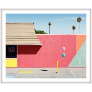 """George Byrne, """"Santa Clarita with Neon"""", 2018, 45x56 inches, ed/5-framed at Newzones Gallery, Calgary Canada"""