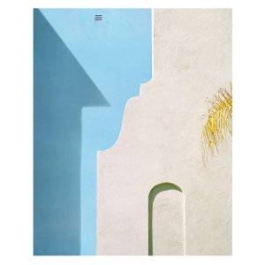 """George Byrne, """"Yellow Wall with Blue"""", 2018, 56x45 inches, ed/5 at Newzones Gallery, Calgary Canada"""