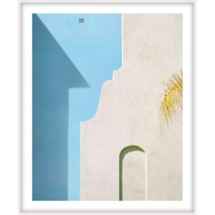 """George Byrne, """"Yellow Wall with Blue"""", 2018, 56x45 inches, ed/5-framed"""